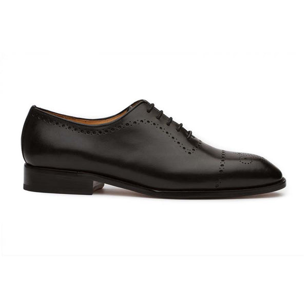 Black punched Medallion Oxfords