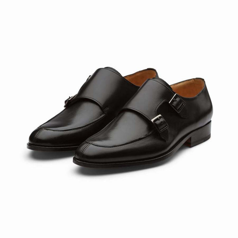Black Split Toe Double Monks