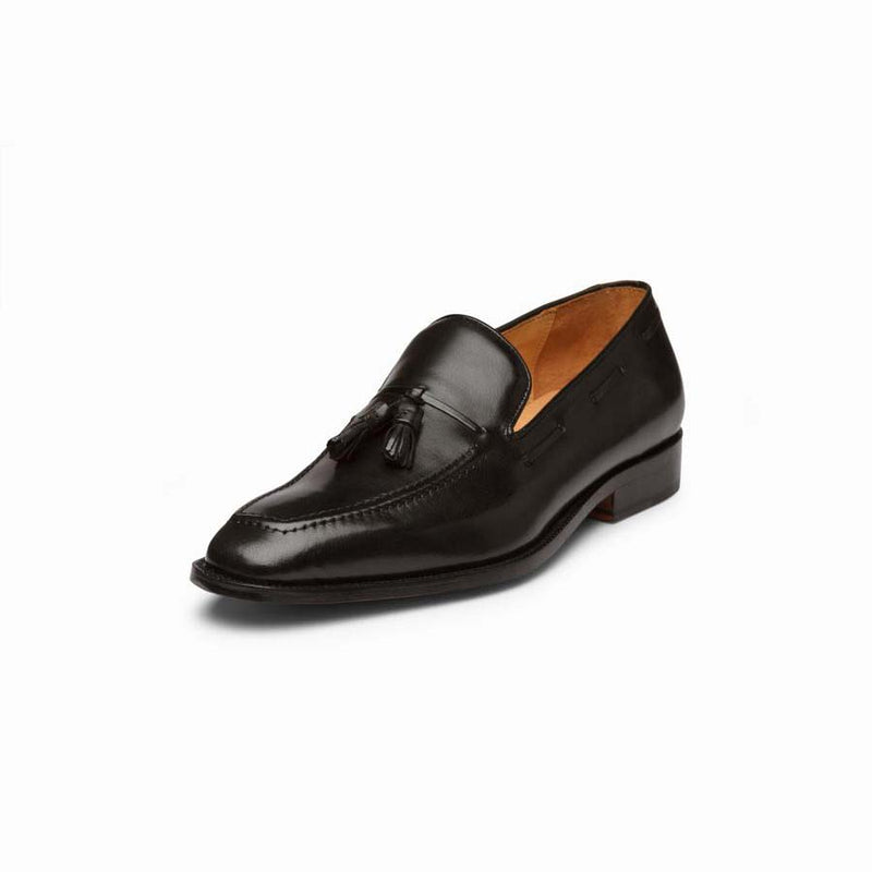 Black Square Toe Tassel Loafer