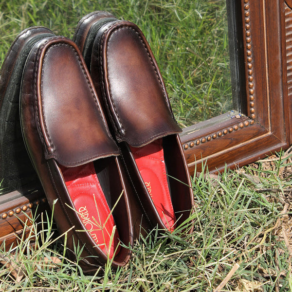 Walnut Brown Patina Loafers