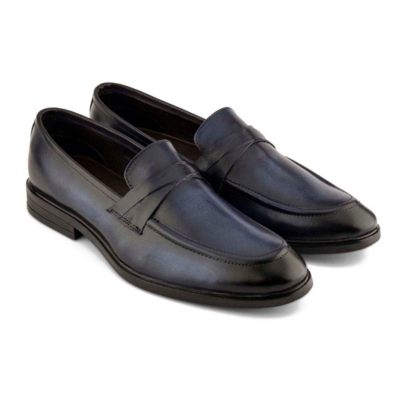 Midnight Blue Patina Loafers
