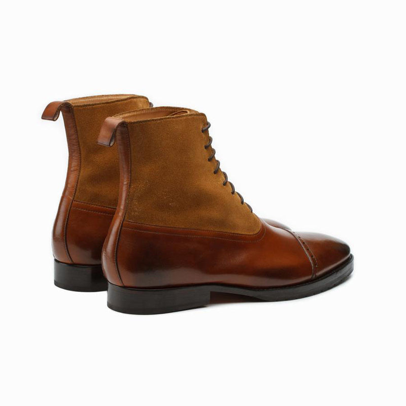 Cognac + Camel Suede Combination Boot