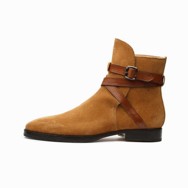 Camel Suede Jodhpur Boots
