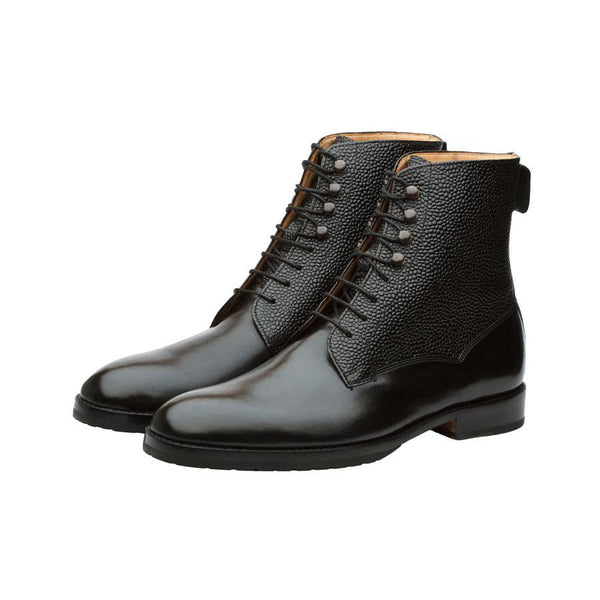 Black Grain Derby Boot