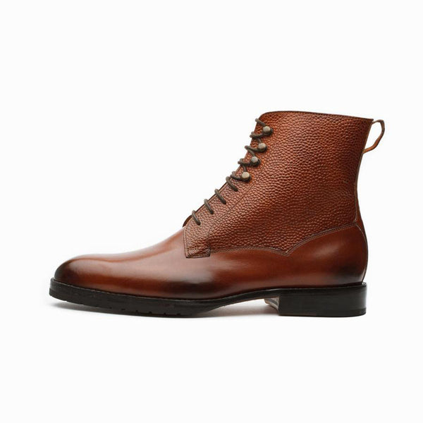 Tan Grain Derby Boot