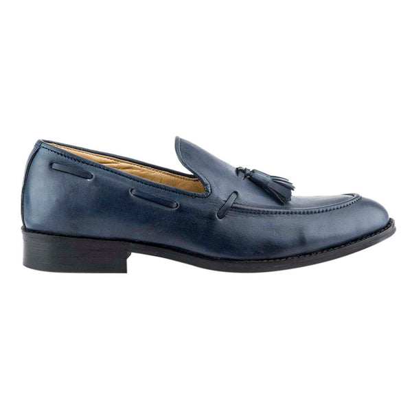 Prussian Blue Tassel Loafers