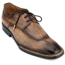 Wood Oak Patina Finish Apron Toe Nrowegian Derby