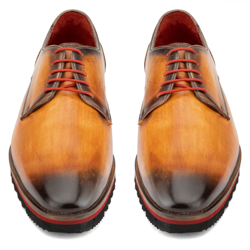 Tan Patina Sporty Sole Derby