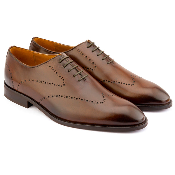 DARK BROWN PUNCHED WHOLECUT OXFORDS