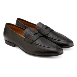 Black Pebble Grain Penny Loafer