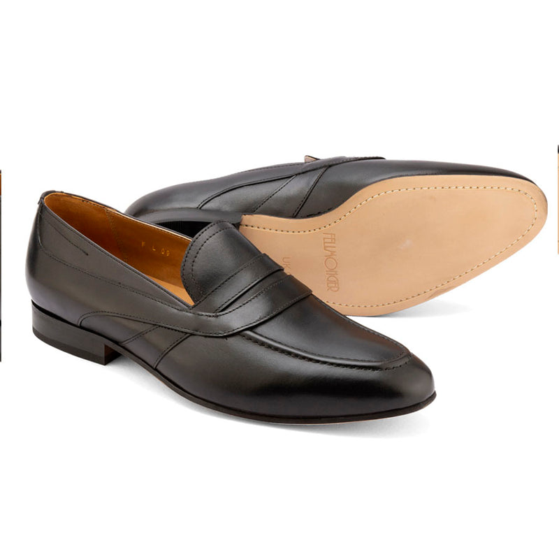 Black Saddle Penny Loafers