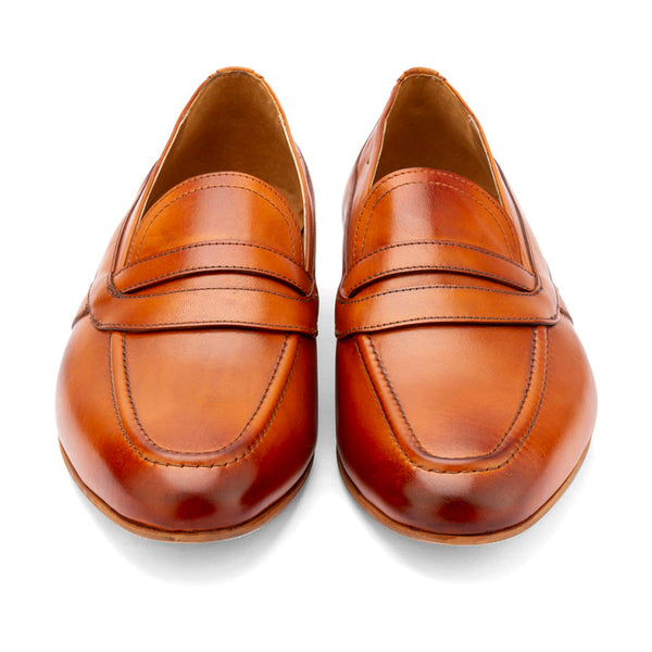 Tan Saddle Loafers