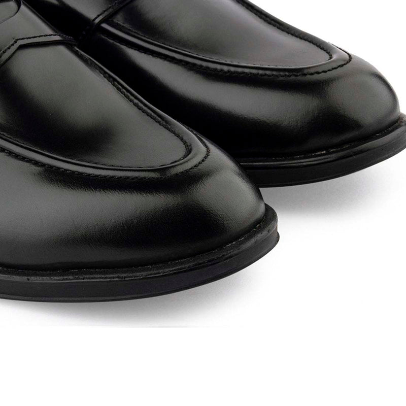 Ultralight Brushed Black Penny Loafers