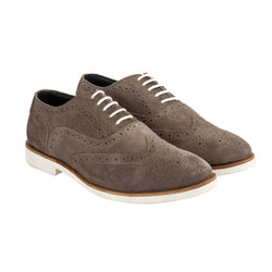 Charcoal Suede Wingtip