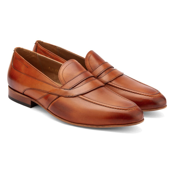 Tan Saddle Penny Loafers