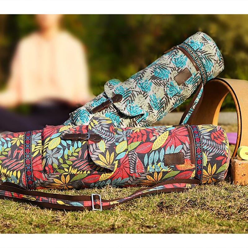 Yoga Bag Durable Canvas Cotton