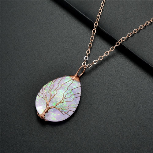 Handmade Copper Wrapped Pendant