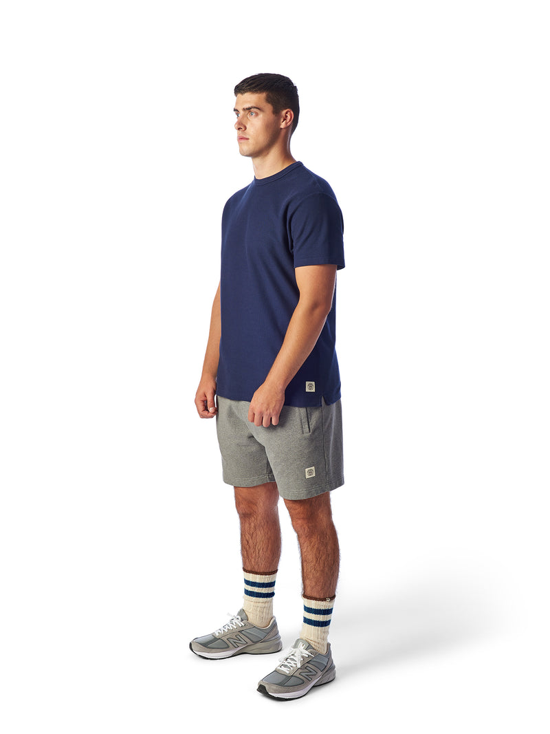 Model Shot Front- Admiral Sporting Goods | Belgrave Waffle T-shirt (Hawk Navy)
