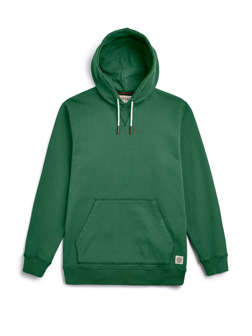 Flat Lay Front Image - Admiral Sporting Goods | Braunston Hoodie (Harrier Green)