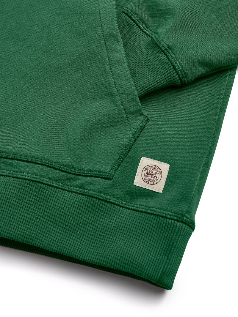 Flat Lay Sleeve Cuff - Admiral Sporting Goods | Braunston Hoodie (Harrier Green)