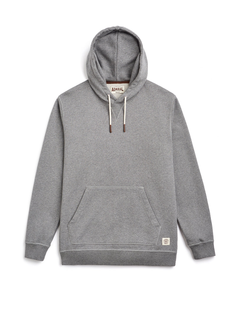 Flat Lay Front Image - Admiral Sporting Goods | Braunston Hoodie (Condor Grey Marl)