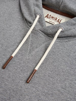 Flat Lay Detail Collar - Admiral Sporting Goods | Braunston Hoodie (Condor Grey Marl)