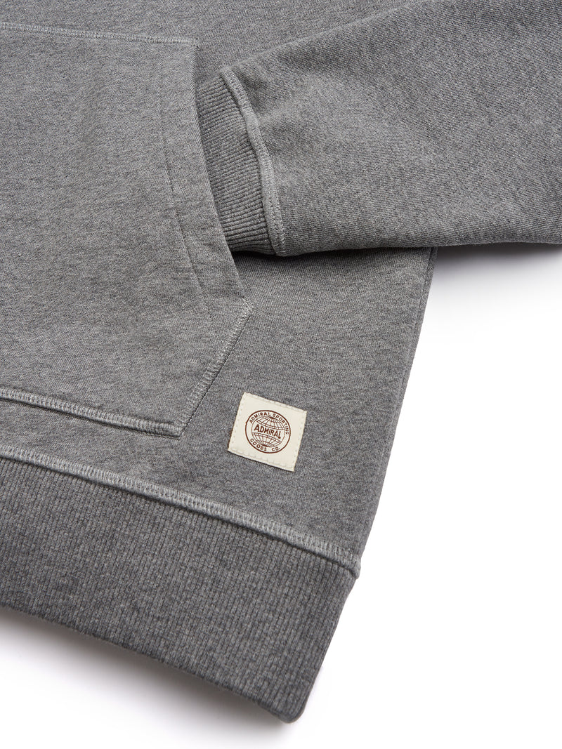 Flat Lay Sleeve Cuff - Admiral Sporting Goods | Braunston Hoodie (Condor Grey Marl)
