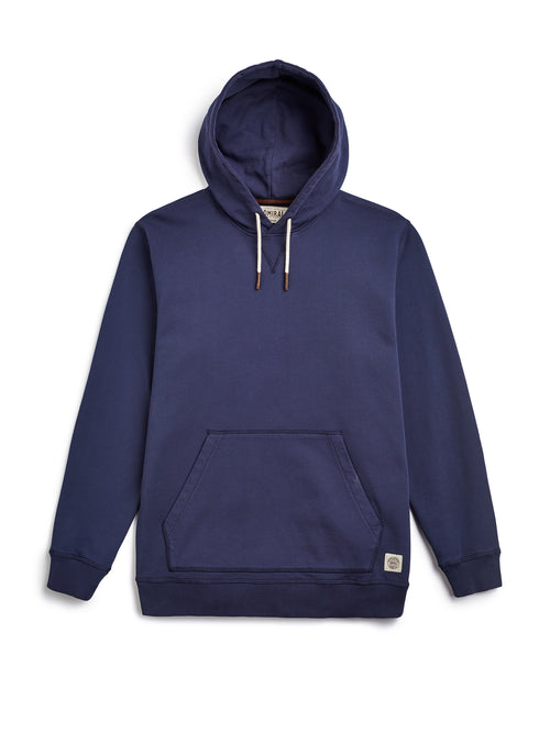 Flat Lay Front Image - Admiral Sporting Goods | Braunston Hoodie (Hawk Navy)