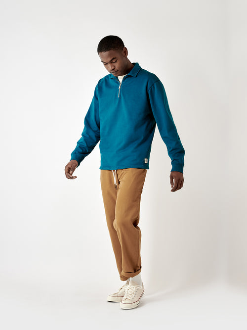 Chartwell Quarter Zip Top - Buzzard Blue
