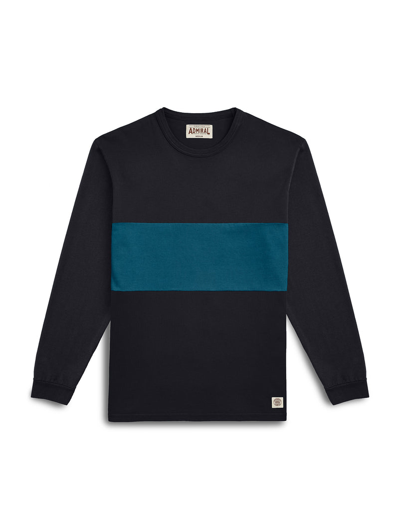 Warren Long Sleeve T-shirt - KITE BLACK/ BUZZARD BLUE