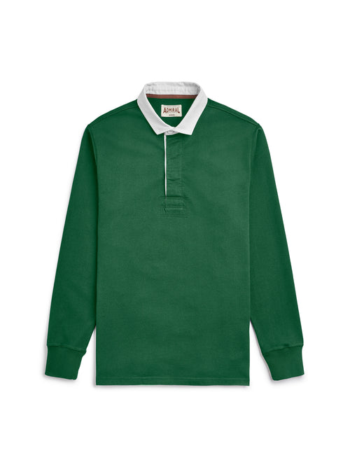 Flat Lay Front Image - Admiral Sporting Goods | Welford Rugby Shirt – (Harrier Green)