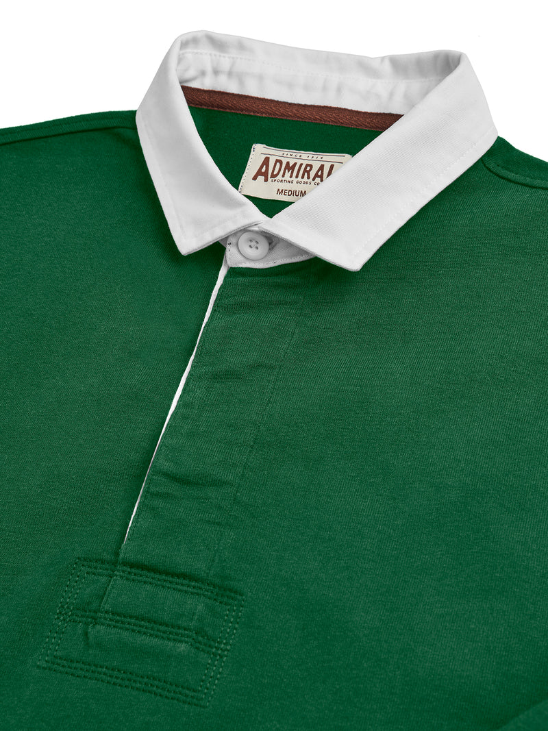 Flat Lay Detail Collar - Admiral Sporting Goods | Welford Rugby Shirt – (Harrier Green)
