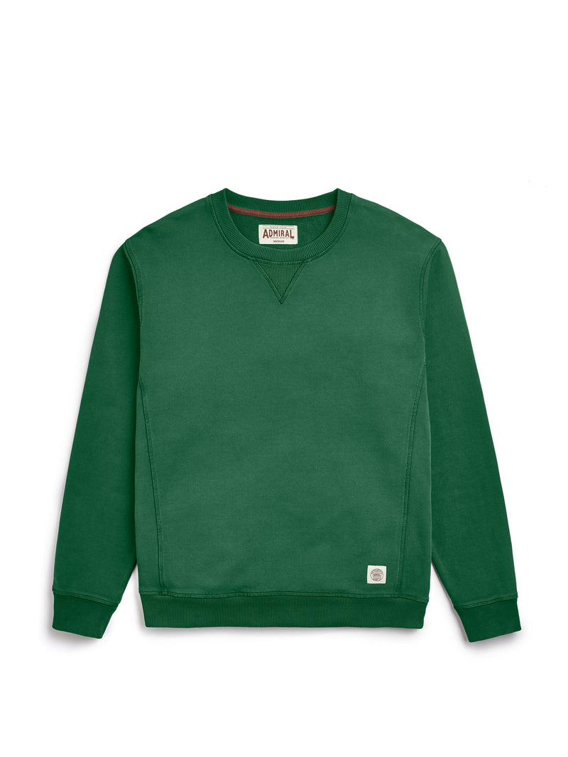 Flat Lay Front Image - Admiral Sporting Goods | Wigston Sweatshirt (Harrier Green)