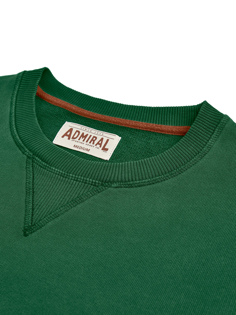 Flat Lay Detail Collar - Admiral Sporting Goods Wigston Sweatshirt (Harrier Green)