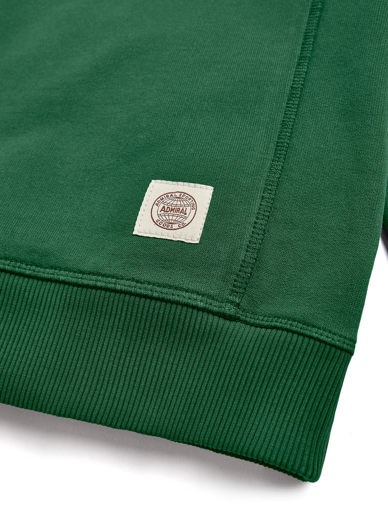 Flat Lay Detail Branding- Admiral Sporting Goods | Wigston Sweatshirt (Harrier Green)