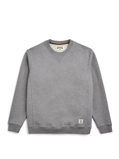 Flat Lay Front Image - Admiral Sporting Goods | Wigston Sweatshirt (Grey Marl)