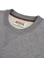 Flat Lay Detail Collar - Admiral Sporting Goods Wigston Sweatshirt (Grey Marl)