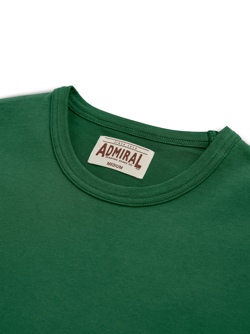 Flat Lay Detail Collar- Admiral Sporting Goods | Aylestone T-Shirt (Harrier Green)