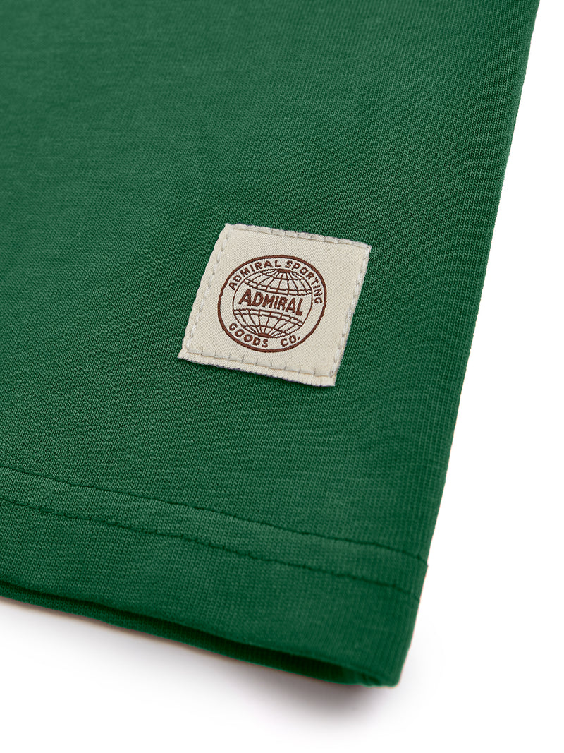 Flat Lay Detail Branding- Admiral Sporting Goods | Aylestone T-Shirt (Harrier Green)