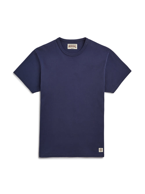 Flat Lay Front Image - Admiral Sporting Goods | Aylestone T-Shirt (Hawk Navy)