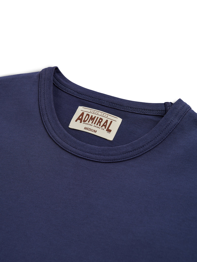 Flat Lay Detail Collar - Admiral Sporting Goods | Aylestone T-Shirt (Hawk Navy)
