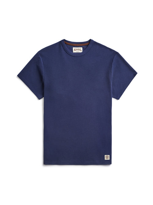 Flat Lay Front Image - Admiral Sporting Goods | Belgrave Waffle T-shirt (Hawk Navy)