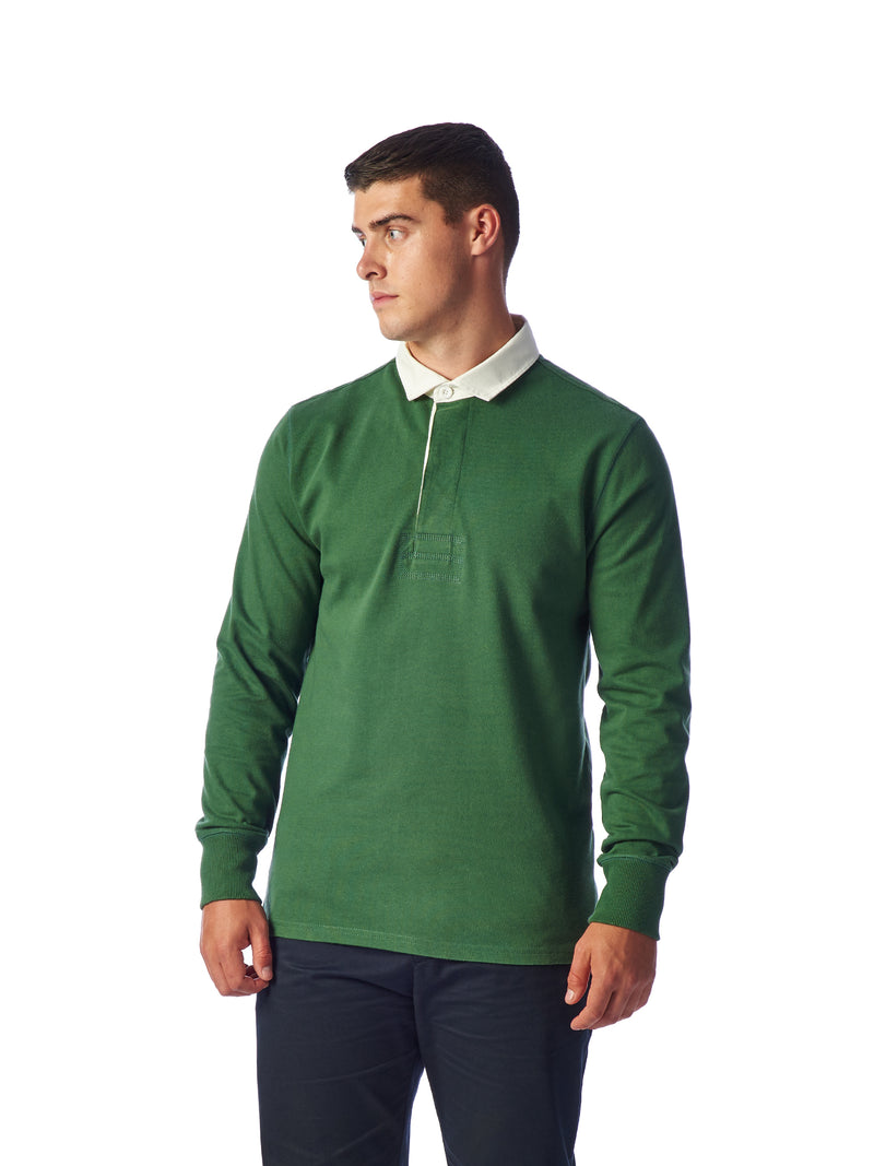 Model Shot Close Up - Admiral Sporting Goods | Welford Rugby Shirt – (Harrier Green)