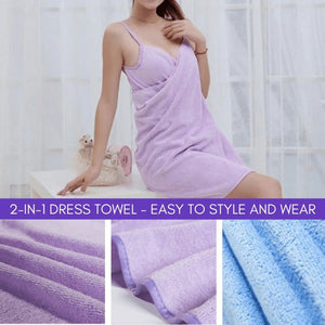 (Buy 2 free shipping) 2 In 1 Towel Dress
