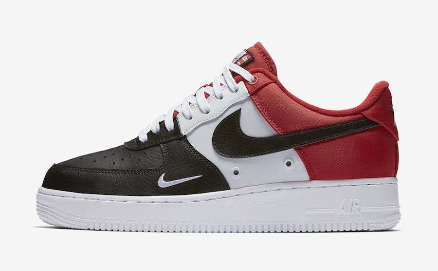 air force 1 low red black white