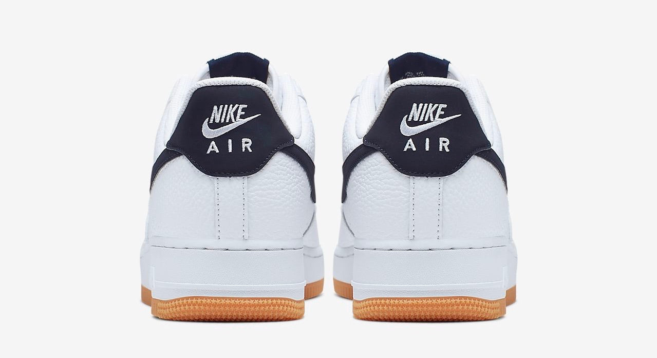 """Nike Air Force 1 Low 07 """"Navy & Gum</p>                     </div>   <!--bof Product URL --> <!--eof Product URL --> <!--bof Quantity Discounts table --> <!--eof Quantity Discounts table --> </div>                        </dd> <dt class="""
