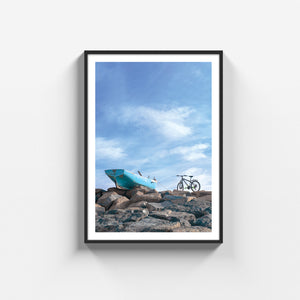 Boat and bicycle poster