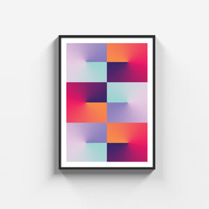 Colored lamp poster