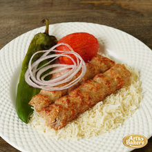 Load image into Gallery viewer, Arts Bakery Glendale Chicken Lulah Kabob Ground Chicken Plate Includes Rice Pilaf & Two Sides