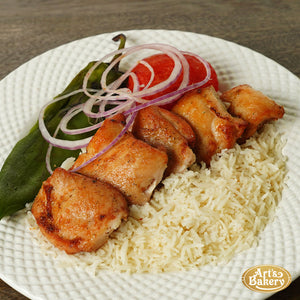 Chicken Thigh Kabab (5 PIECES) Boneless Thigh Includes Two Sides